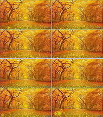 深秋落叶LED背景视频