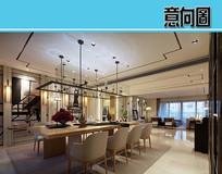 新中式小别墅装修设计 JPG
