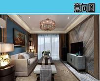新中式住宅装修设计 JPG