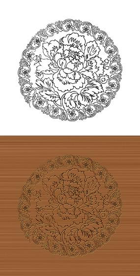 圆形花纹矢量图案