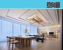 住房设计新中式风格 JPG