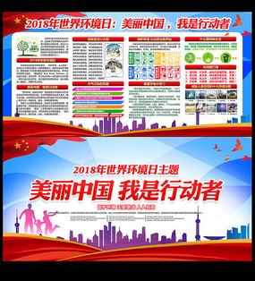 美丽中国我是行动者展板