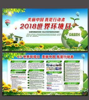 2018世界环境日展板设计