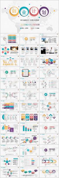 彩色微立体创业融资计划书PPT