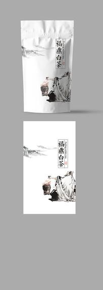 福鼎白茶茶自封袋包装03 PSD