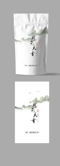 国色天香茶自封袋包装05 PSD