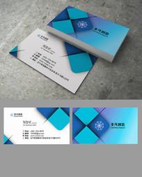 蓝色投影商务科技创意名片