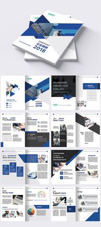欧美蓝色创意简约画册宣传册