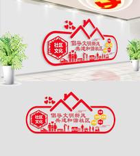 十九大红色社区文化墙设计