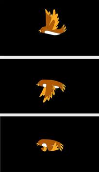 透明通道卡通小鸟