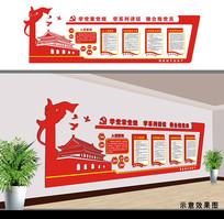 党建文化党员活动室形象墙