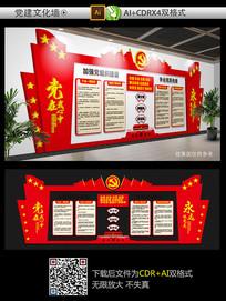 经典党员活动室文化墙