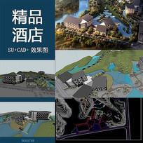 酒店景观SU模型CAD平面图