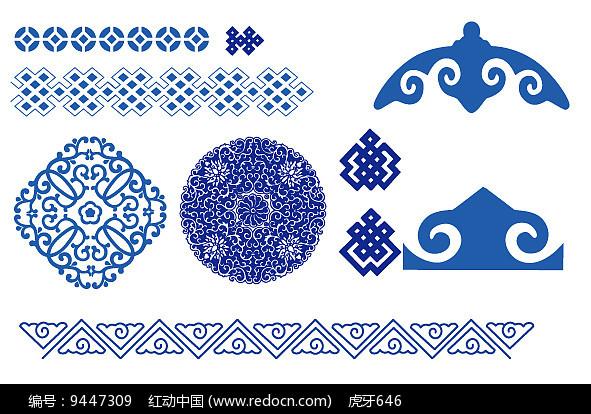 蒙古花纹图案素材