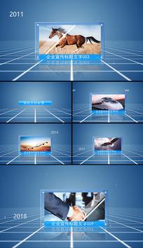 简洁科技图文展示AE模板