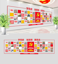 中国共产党光辉历程党建文化墙 AI