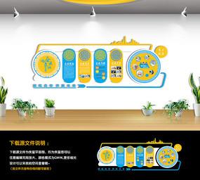 阿奇企业文化墙形象墙 CDR