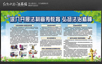 校园社区法制教育普法宣传展板