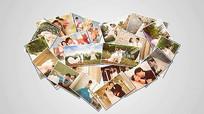 AE写真婚礼爱心相册展示模板