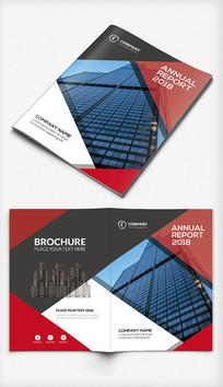 红色科技企业画册封面设计