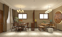 家庭式餐厅茶室模型