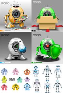 机器人卡通形象素材
