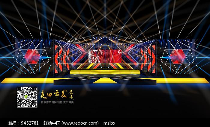 演唱会舞台效果图舞美效果图图片