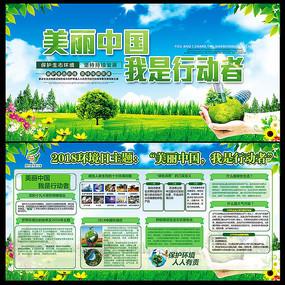 2018年环境保护日宣传展板
