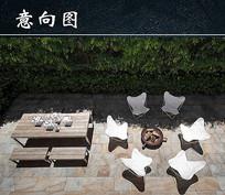花园里的桌椅