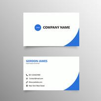 简单企业个人名片设计模板