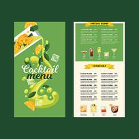 绿色饮料菜单模板