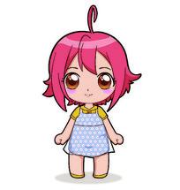 日式风格小女孩插画AI矢量