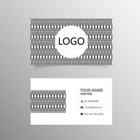现代商务名片设计模板