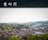 小镇建筑群图