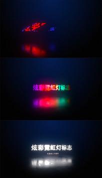 炫彩霓虹灯标志AE模板