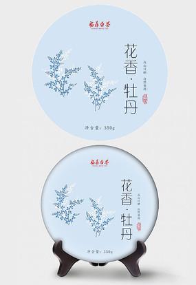 花香牡丹茶饼包装