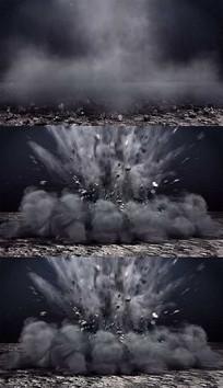 煤矿开采爆炸背景视频