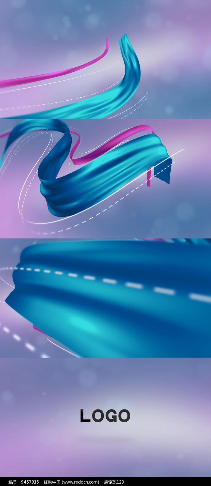 飘逸的彩色丝绸AE模板图片