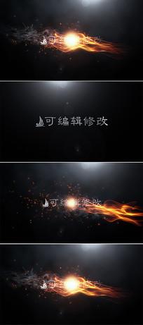 震撼火焰标志展示片头ae模板