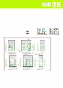 标准房卫生间立面详图