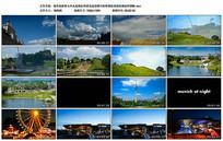 城市旅游景点风光建筑景色视频
