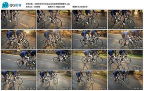 公路骑自行车自由运动实拍视频