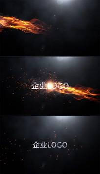 火焰logo片头AE模板
