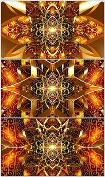 金色花纹印度舞LED背景