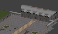 现代感十足的窑洞酒店模型