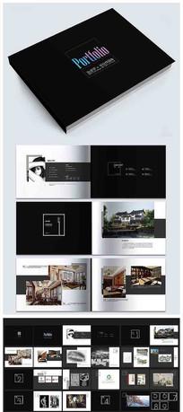 高端时尚作品集画册手册模板