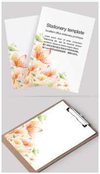 季节花朵信纸