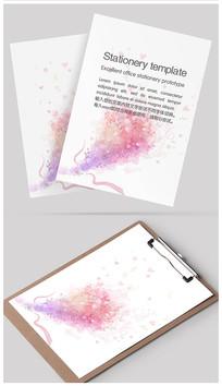 浪漫花束信纸