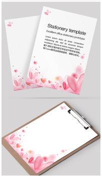 浪漫情人红心信纸