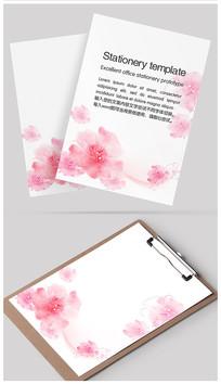 水彩淡雅鲜花信纸